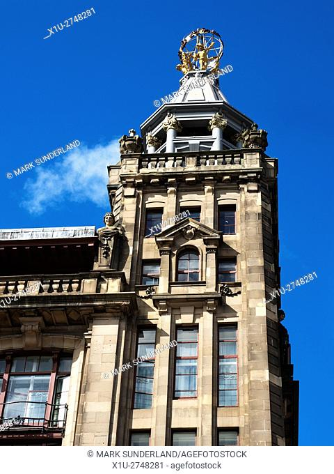 RW Forsyth Sphere atop the former R W Forsyth Department Store in Princes Street Edinburgh Midlothian Scotland