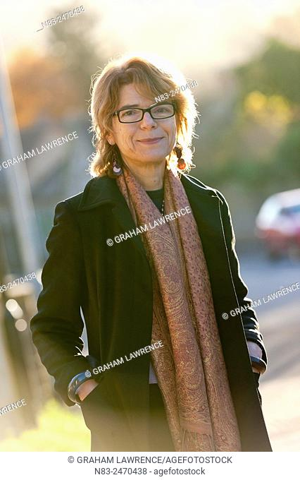 Hay-on-Wye, Wales, UK. 30th November 2013. Vicky Pryce, exwife of politician Chris Huhne and author of Prisontronics, arrives at the Swan Hotel looking...