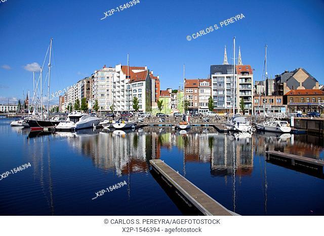 Ostend Harbour, Western Flanders, Belgium, Europe