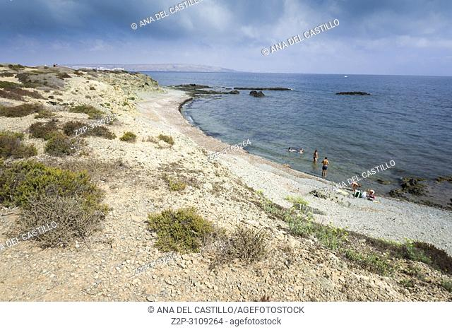 Landscape in Tabarca, is an islet located in the Mediterranean Sea, close to the town of Santa Pola, in the province of Alicante, Valencian community