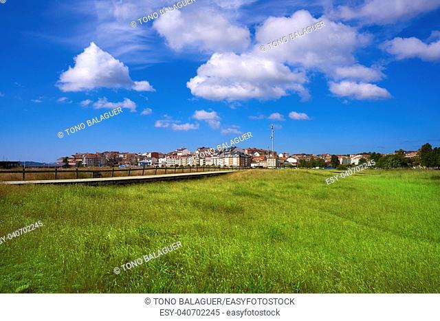 Portonovo Baltar beach in Pontevedra of Galicia in Sanxenxo also Sanjenjo