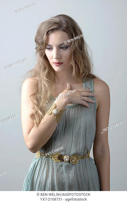 Woman with handmade jewellery