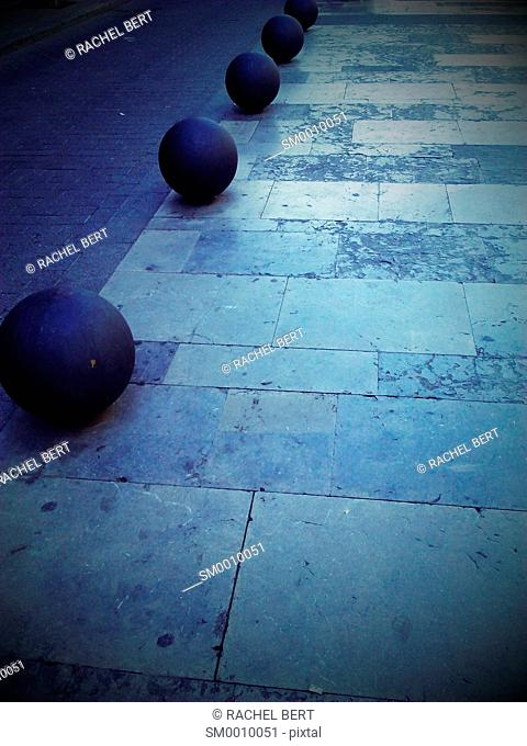Balls on the Street, Avinguda Gaudí, Barcelona, Catalonia