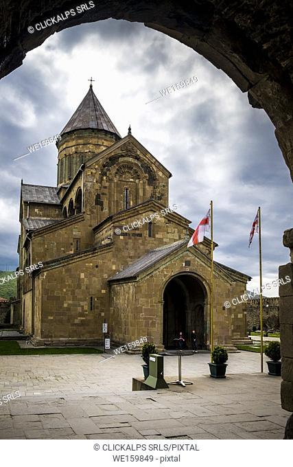 Svetitskhoveli Cathedral in Mtskheta, Georgia, Caucaus, Eurasia