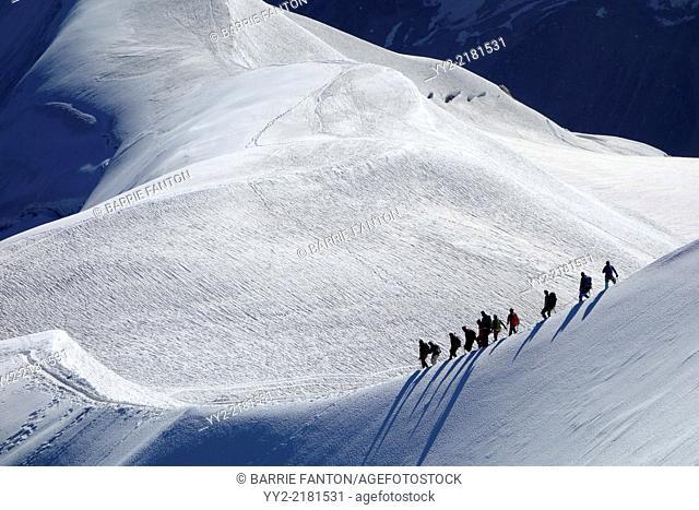 Mountain Hikers, Chamonix, France, Europe
