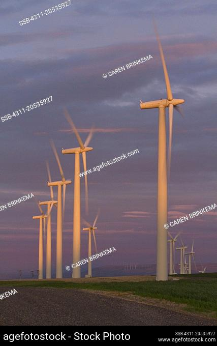 These wind towers have a very small footprint, and even including the service roads take only a fraction of the farmer's land
