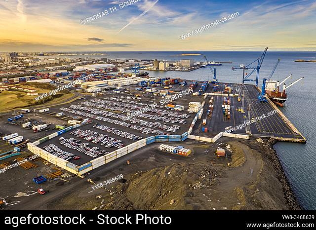 Reykjavik Harbor, shipping port, Reykjavik, Iceland