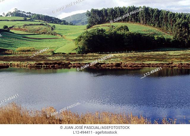 Eo river near Ribadeo. Lugo province, Galicia, Spain
