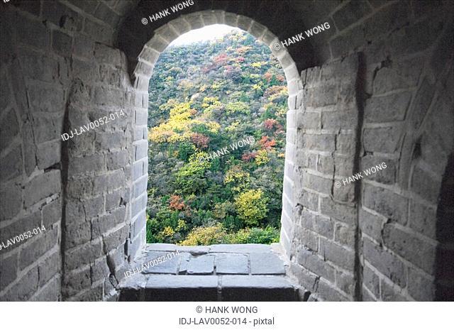 Archway of a historic wall, Great Wall Of China, China