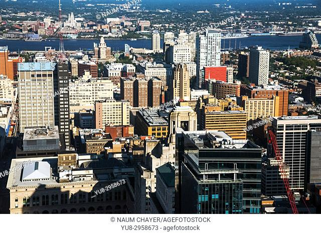 Beautiful vew of Philadelphia from One Liberty Observation Deck, Philadelphia, Pennsylvania, USA