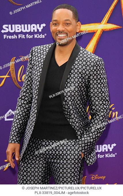 """Will Smith at The World Premiere of Disney's """"""""Aladdin"""""""" held at El Capitan Theatre, Hollywood, CA, May 21, 2019. Photo Credit: Joseph Martinez / PictureLux"""