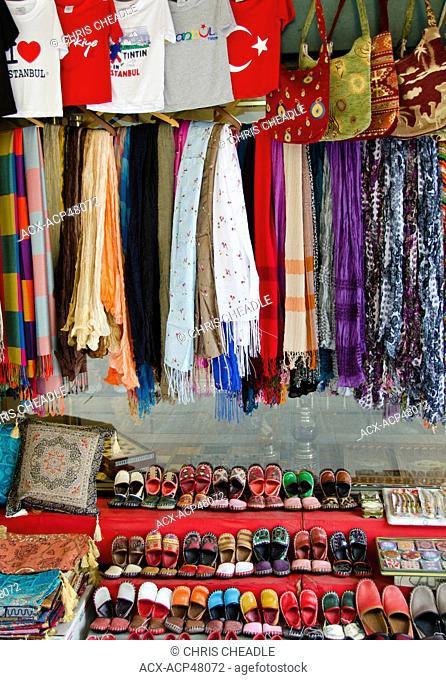 Gift shop merchandise in Istanbul, Turkey