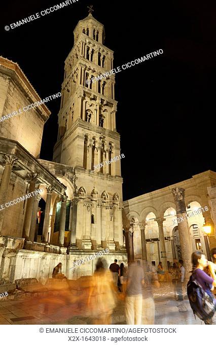 St Dominus belltower, the Peristyle, Split, region of Dalmatia, Croatia, Europe