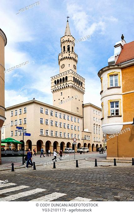 Town hall and city center, Opole, Poland
