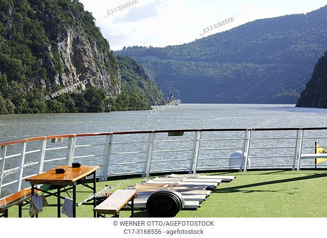 Das Eiserne Tor, Serbia, Romania, Southern Carpathians, Serbian Carpathians, Banat Mountains, Djerdap National Park, cataracts, Iron Gates, Danube water gap