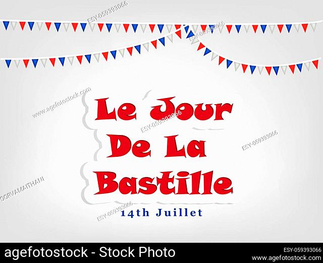 illustration of France Bastille Day background