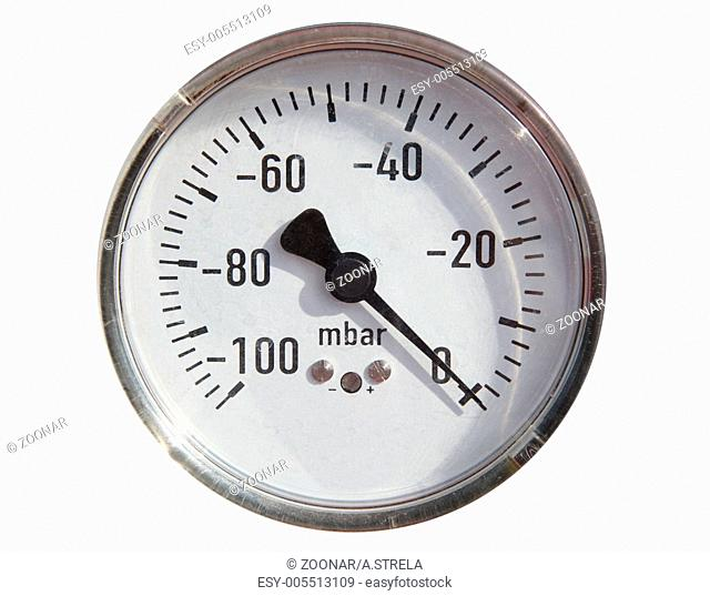 Gas pipeline and manometer gas