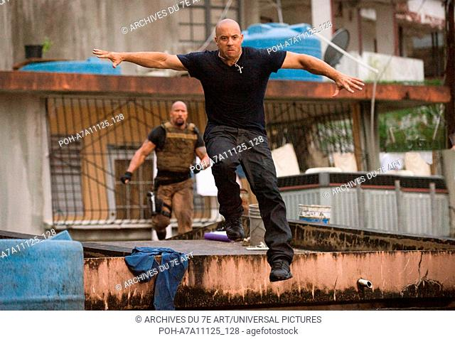 Fast Five Year : 2011 USA Director : Justin Lin  Vin Diesel Photo: Jamie Trueblood. It is forbidden to reproduce the photograph out of context of the promotion...
