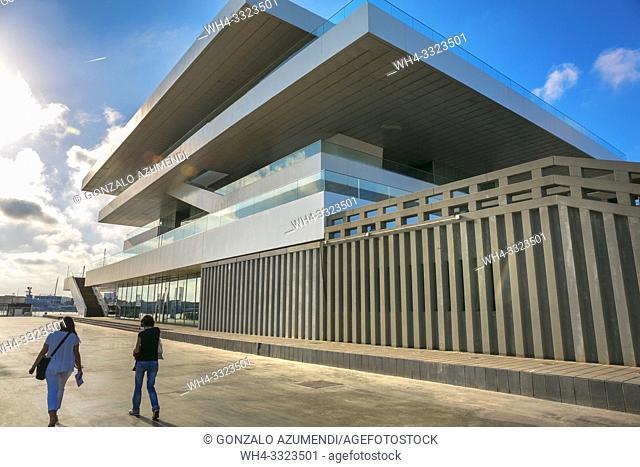 Building Veles e Vents , architect David Chipperfield. Port . Poblados maritimos. El Cabanyal. Valencia. Comunidad Valenciana. Spain.