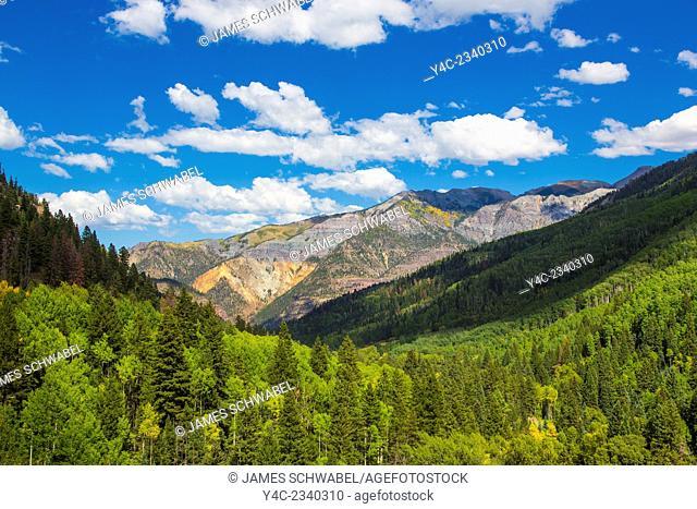 Along County Rt 361, Camp Bird Rd in the San Juan Mountains outsdie Ouray Colorado