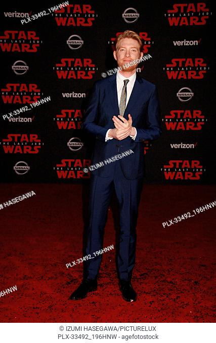 "Domhnall Gleeson 12/09/2017 The World Premiere of Lucasfilm's """"Star Wars: The Last Jedi"""" held at Shrine Auditorium in Los Angeles"