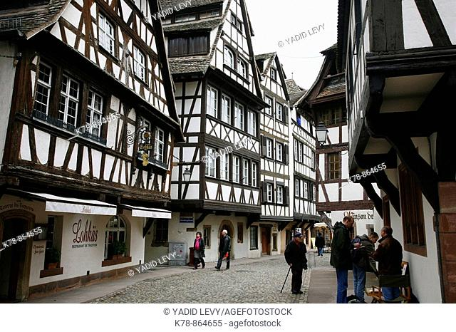 Sep 2008 - Half timbered houses in Petite France, Strasbourg, Alsace, France