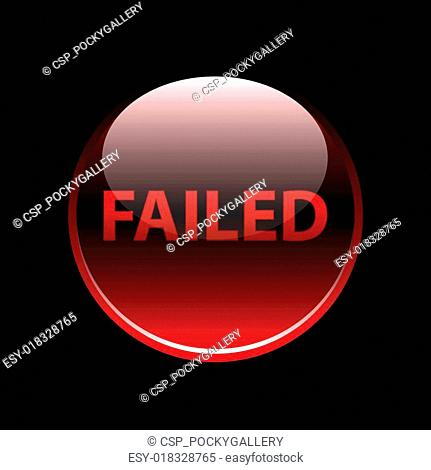 Red glossy failed button