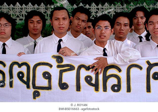 Thai students, student manifestation, Thailand, Bangkok