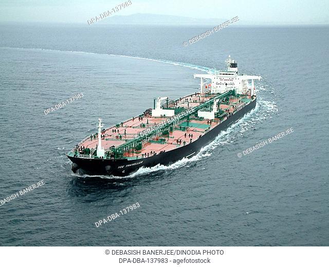 Oil tanker in Atlantic ocean