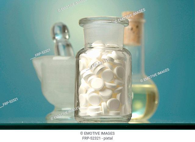 Dr  Schüssler's cell salts pills in a bottle