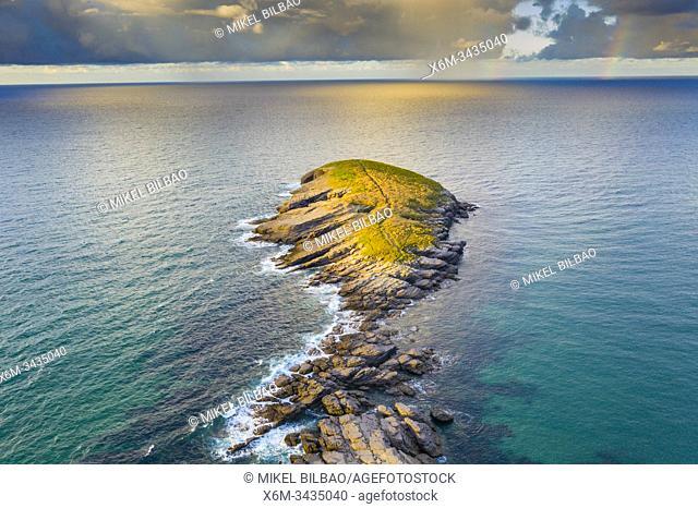 Coastal landscape. Punta Sonabia o La Ballena (The whale), Cantabria, Spain, Europe