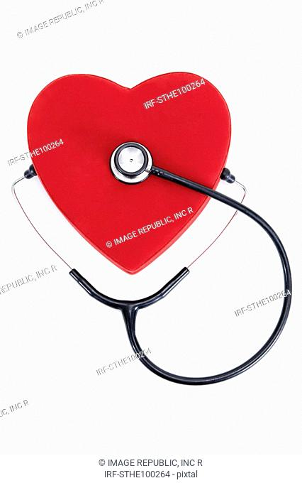 heart shape and stethoscope