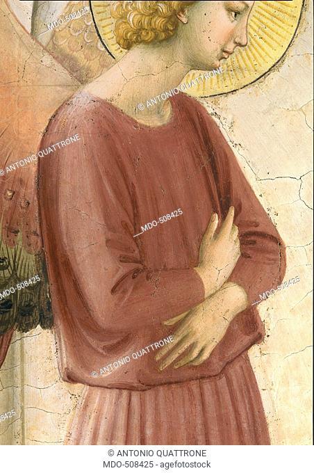 The Annunciation, by Guido di Pietro (Piero) known as Beato Angelico, 1438 - 1446 about, 15th Century, fresco, cm 190 x 164