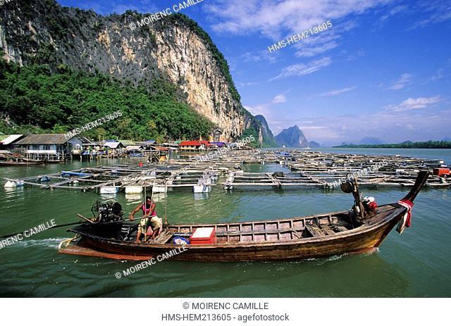 Thailand, Phang Nga Province, Phang Nga Bay, Kho Panyee or Gipsy village