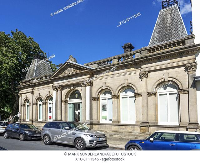 The Mercer Art Gallery former Town Hall building in Summer Harrogate North Yorkshire England