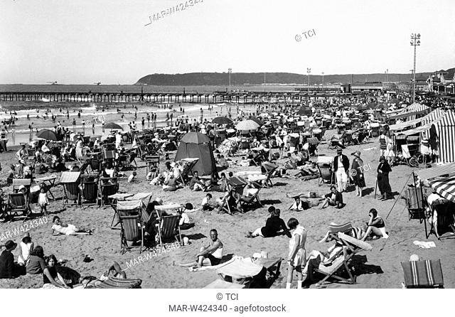 beach, durban, southafrica, africa 1930-40