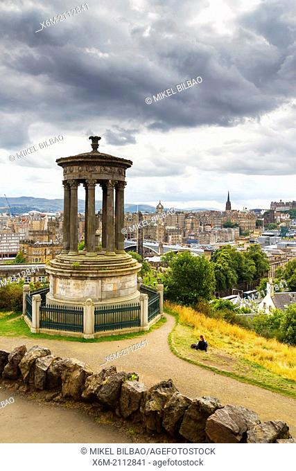 City view from Calton Hill. Scotland, UK, Europe