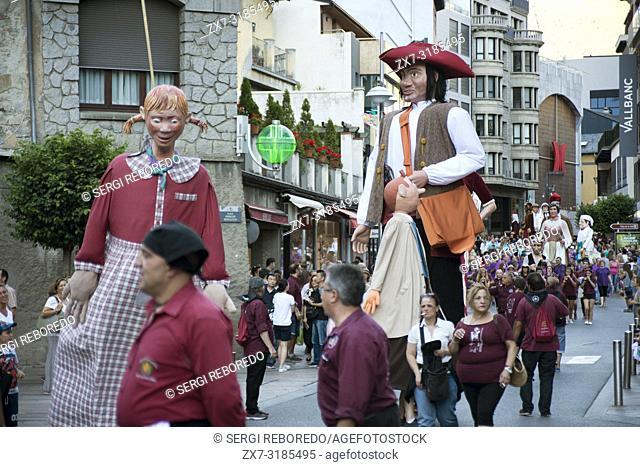 Traditional celebration of Giants and big headeds, Andorra la Vella, Andorra