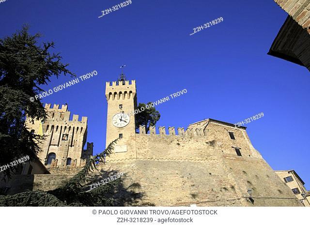 Offagna village, Ancona, Marche, Italy