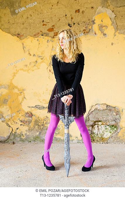 Legs woman between Body Language