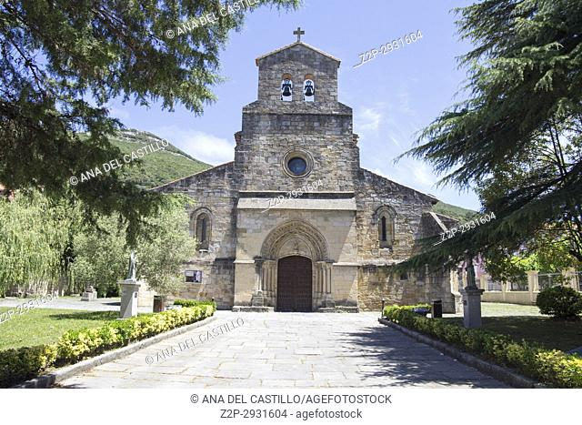 Santona in Cantabria village and beach on July 3, 2017 Spain Virgen del Puerto church