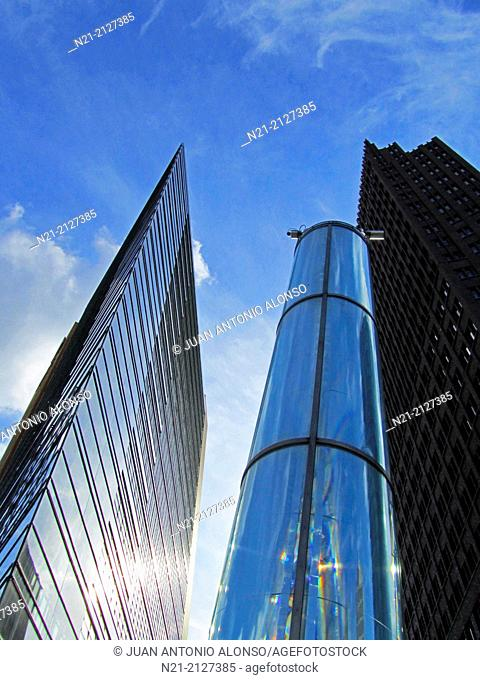The Potsdamer Platz 11 Building. On the right, the Kollhoff Tower. Potsdamer Platz, Berlin, Germany, Europe