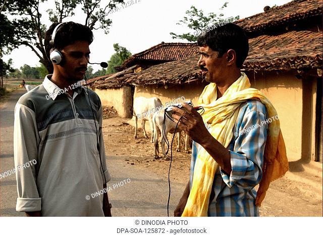Man operating modern equipment ; NGO Alternative for India Development (AID) ; Garwa and Latehar ; Jharkhand ; India