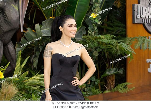 """Daniella Pineda at the Premiere of Universal Pictures' """"""""Jurassic World: Fallen Kingdom"""""""" held at the Walt Disney Concert Hall in Los Angeles, CA, June 12, 2018"""