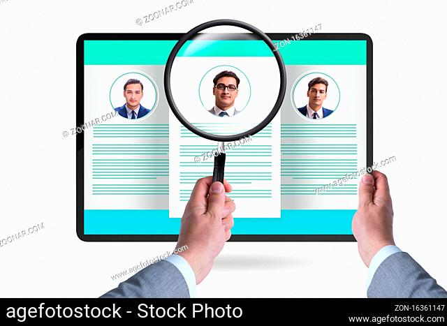 Recruitment and employment concept with the cv
