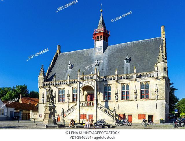 Belgium, West Flanders (Vlaanderen), Damme. Stadhuis Damme town hall