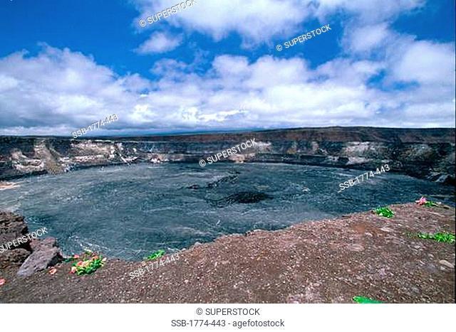 Kilauea Volcano's Caldera, Big Island, Hawaii, USA
