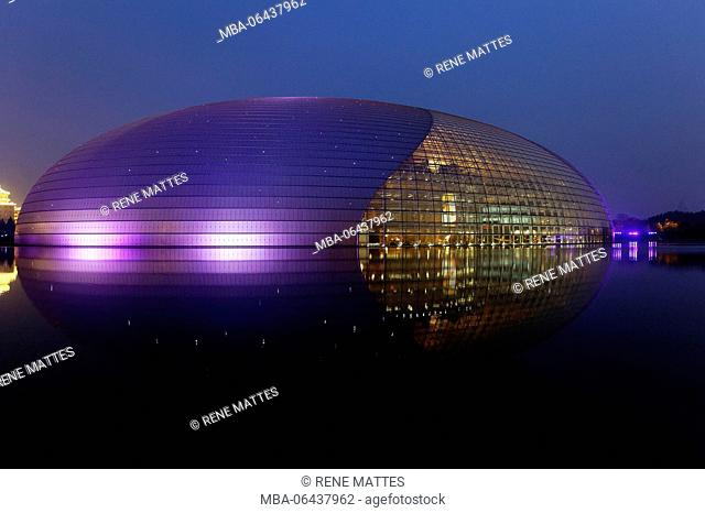 China, Beijing, Beijing Opera by french architect Paul Andreu