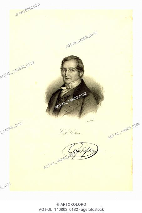 Gay-Lussac, litho by Delpech