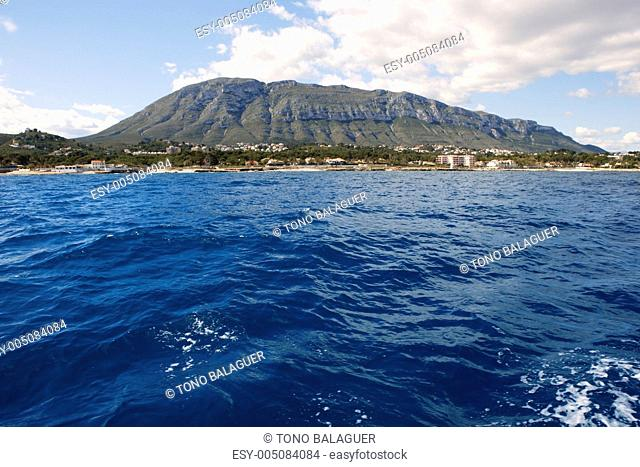 Mongo montgo mountain from sea Denia